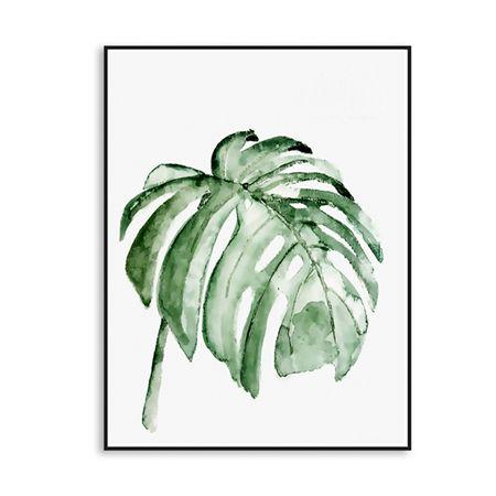 Акварель тропический листьев растений холст Книги по искусству печать плакат настенные панно для украшения дома принт Настенный декор без Рамки Картины