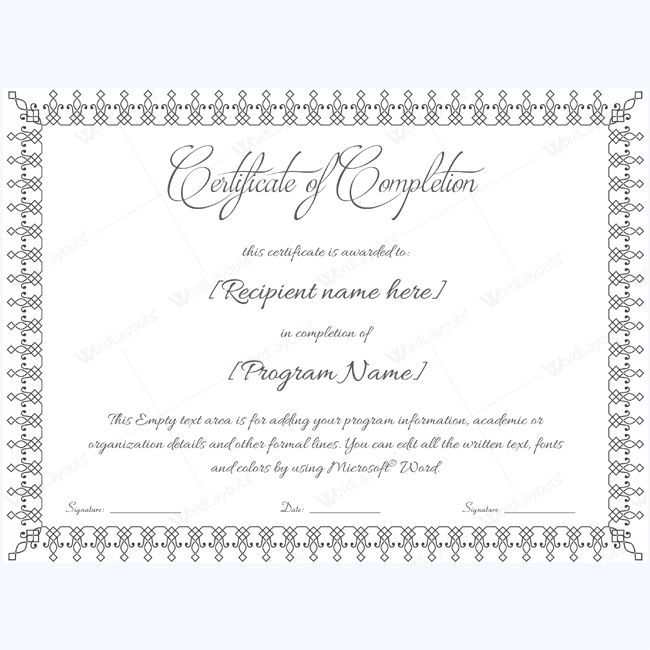 Blank Completion Template #completion #completionwordtemplate #completiontemplate #completioncertificate #certificatetemplate #completionword