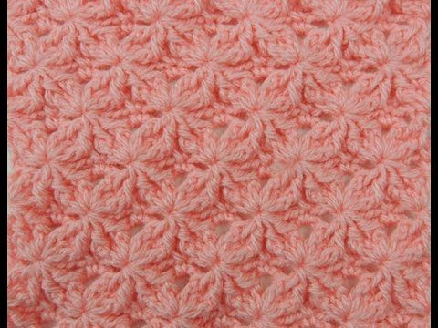 Crochet : Variacion Medio Punto Alto - YouTube