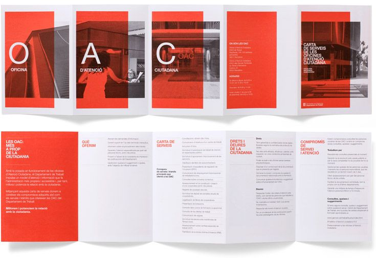 Brochure for the Citizen Information Offices (OAC). Project done in collaboration with Albert Martínez López-Amor.
