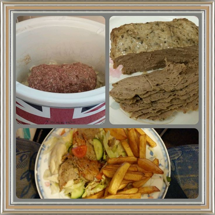 home made lamb kebabs, lamb and herbs mixed by hand until i win my own fab kenwood Chef Sense! then slow cooked to perfection, sliced and served with pitta bread, chips and salad #kenwoodchefsense