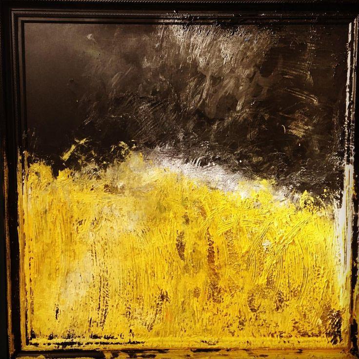 "68 aprecieri, 1 comentarii - BMR -🎨 painter (@bogdanmihairadu) pe Instagram: ""Wheat field at sunset - a reinterpretation after Van Gogh oil on canvas, 110 x 110 cm #modernart…"""
