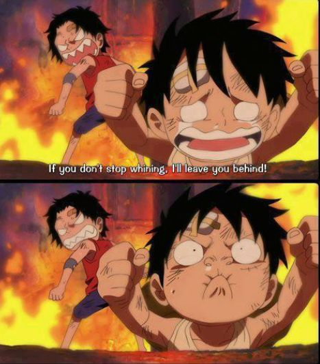 One Piece #anime #manga Lol Ace is An awesome big bro