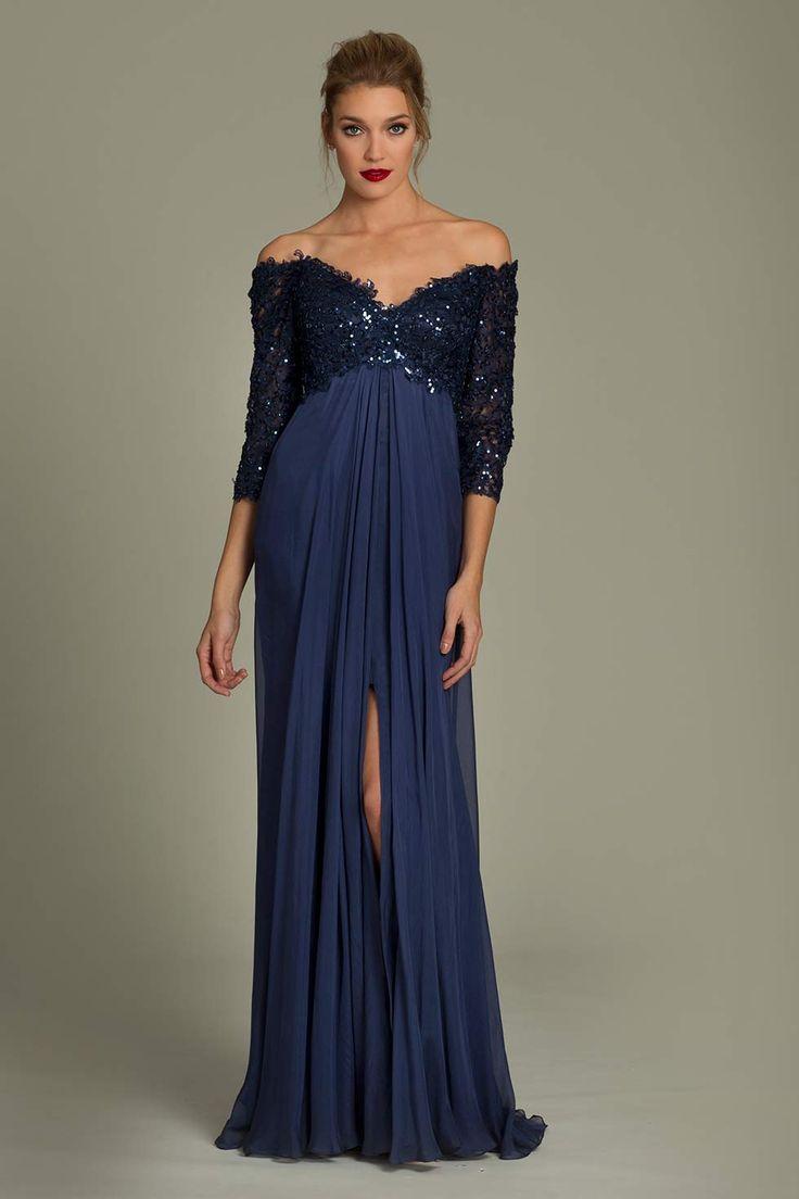 Empire waist chiffon Jovani gown | vestidos