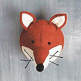Decorative Felt Fox Head