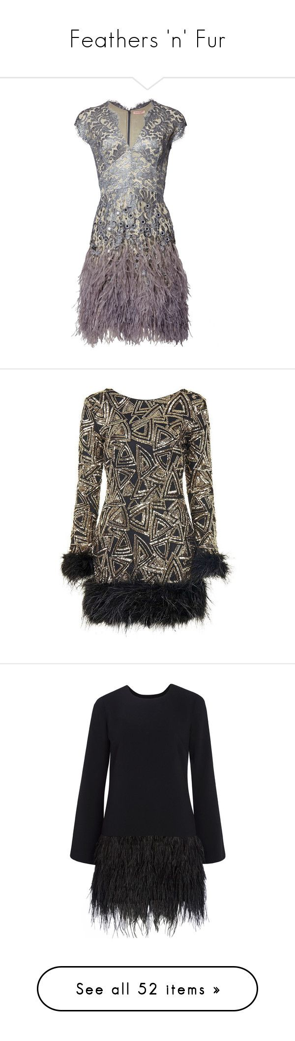 """""""Feathers 'n' Fur"""" by stardustnf ❤ liked on Polyvore featuring dresses, silver dress, white feather cocktail dress, white lace cocktail dress, feather cocktail dress, lace mini dress, vestidos, flapper dress, sequin flapper dress and topshop dresses"""