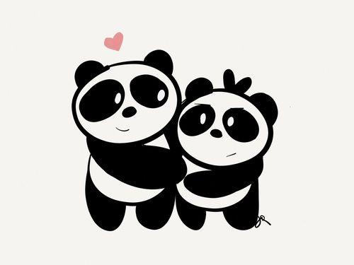 Drawn Pandas. Flower boy next store did a panda theme like this too.