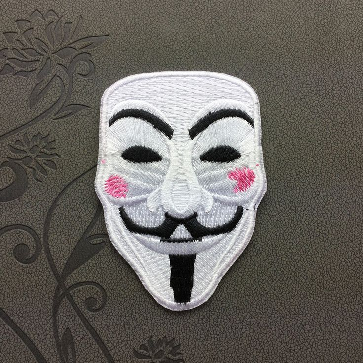 V for Vendetta Individuality Hat patches Embroidered Iron-On Patches sew on patches