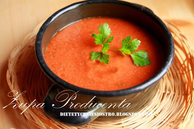 Zupa pomidorowa z ciecierzycą.