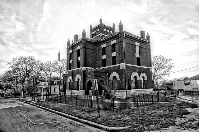 From his recent photographic safari. :-) Austin County Jail in Bellville TX