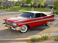 """1957 Plymouth Fury.  One of the two remaining """"Christine"""" models from the 1983 movie based on the Stephen King novel."""