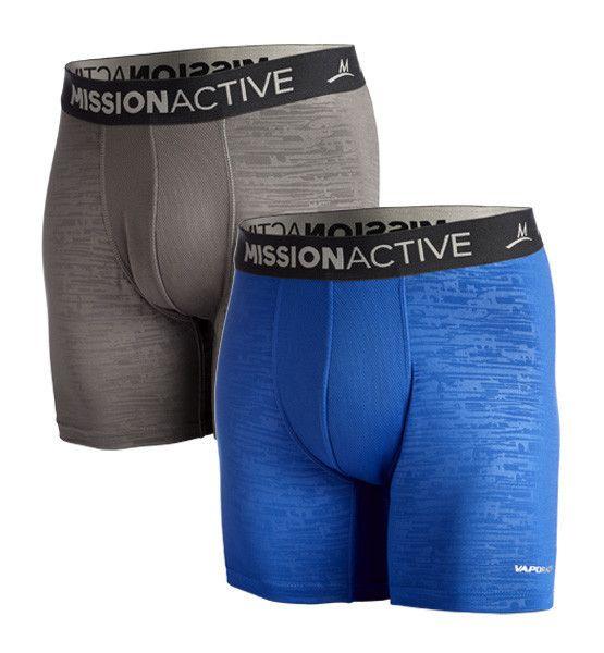 VaporActive Boxer Briefs - 2-Pack | Royal Blue / Charcoal