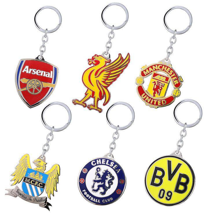 Sport Accessories Big Five European Football Leagues FC Souvenirs Metal Key Holder Key Chain Soccer Football Club Jewelry