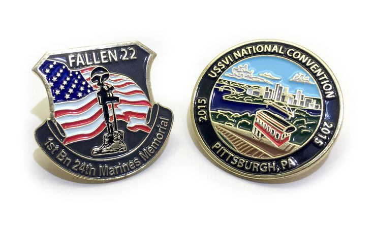 These military pins have come through our shop. We wanted to let you know that we offer free quotes and will help you with custom artwork & designs. If you want your design on an lapel pin and get them made, please visit: https://www.qualitylapelpins.com/