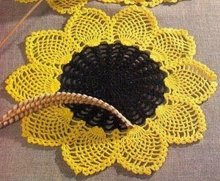 "149. Crochet sunflower - Crochet pattern ""Pineapple"""