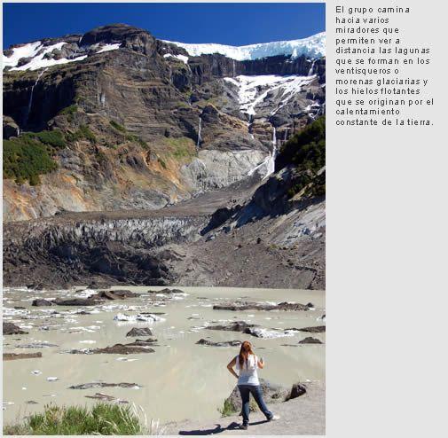 El cerro Tronador y sus glaciares milenarios
