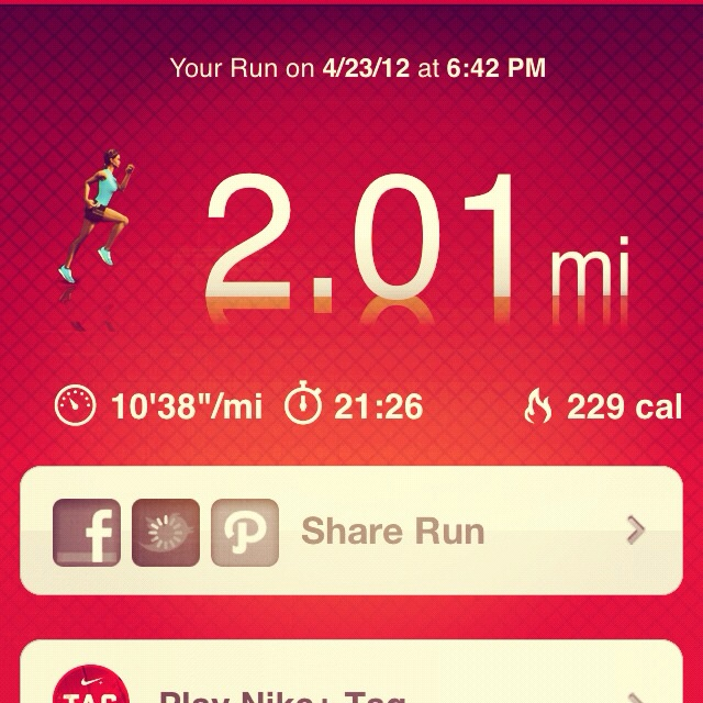 My first two mile run