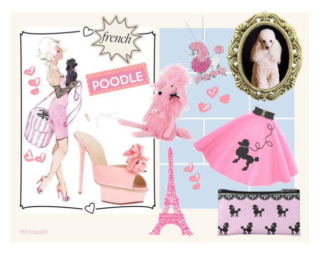 French Poodle! by whirlypath on Polyvore featuring Charlotte Olympia, 1928 and Jellycat