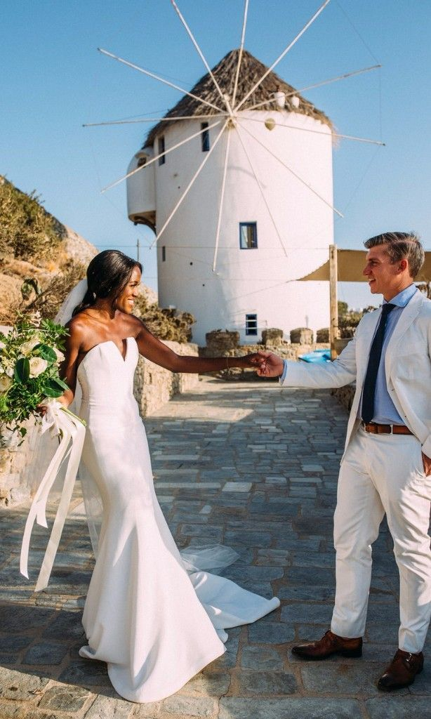 intimate wedding packages atlantga%0A Actress Krys Marshall u    s Intimate Wedding in Mykonos