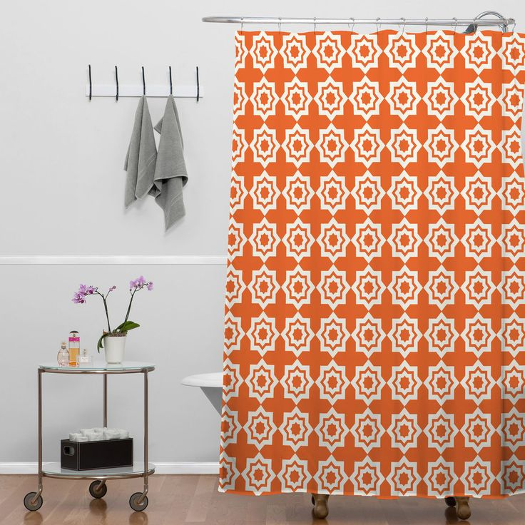 Khristian A Howell Moroccan Mirage Orange Shower Curtain | DENY Designs Home Accessories