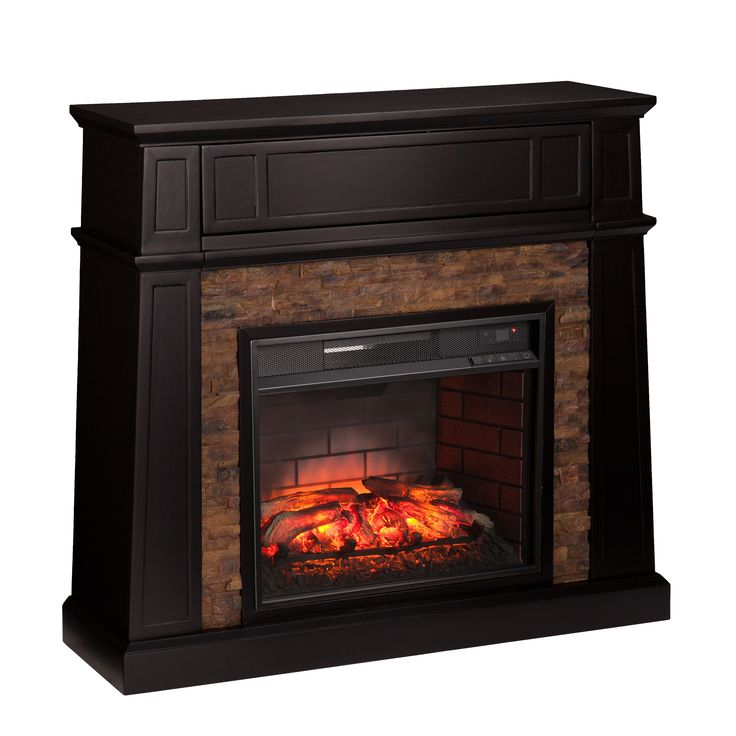 Harper Blvd Fitzgerald Faux Stone Infrared Electric Media Fireplace
