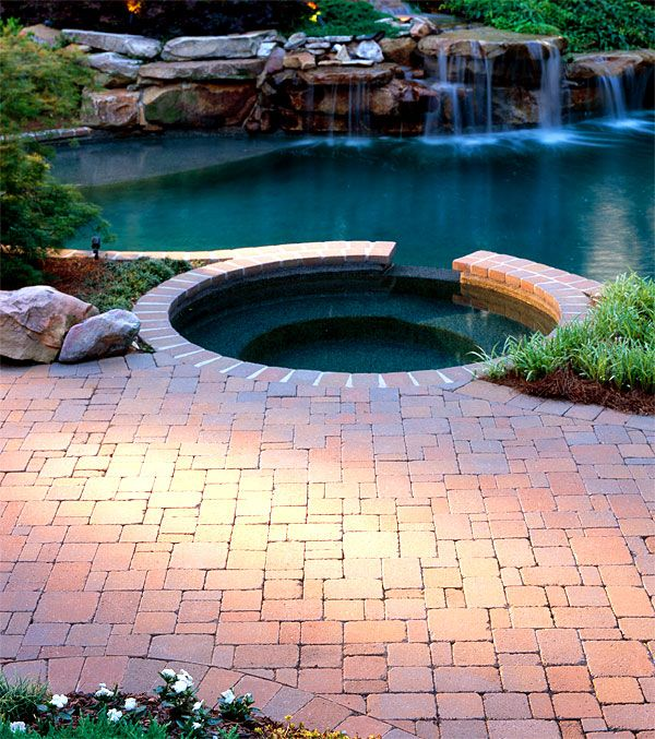 17 best images about pool designs on pinterest outdoor for Pool paving ideas