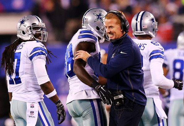 Dez Bryant and Jason Garrett Photos Photos - Head coach Jason Garrett and  Dez Bryant #88 of the Dallas Cowboys celebrate in the fourth quarter against the New York Giants at MetLife Stadium on November 23, 2014 in East Rutherford, New Jersey. - Dallas Cowboys v New York Giants