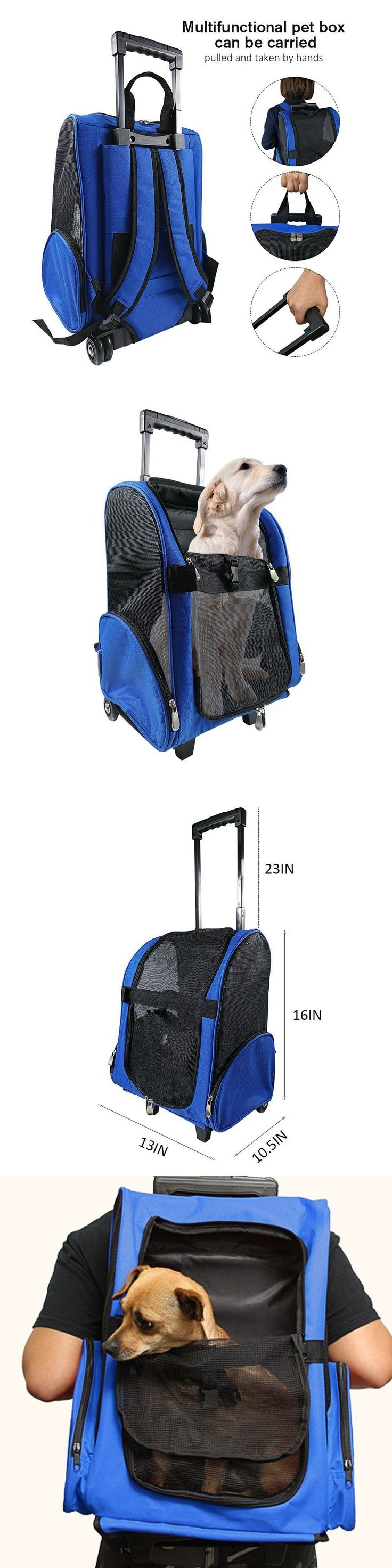 Carriers and Crates 26702: Soft Pet Carrier Rolling Wheels Backpack Airline Approve Mesh Storage Hiking New -> BUY IT NOW ONLY: $49.77 on eBay!