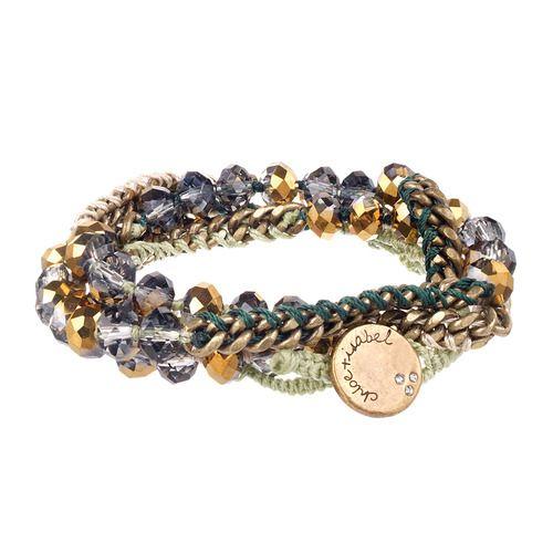 Bead + Chain Multi Wrap Bracelet