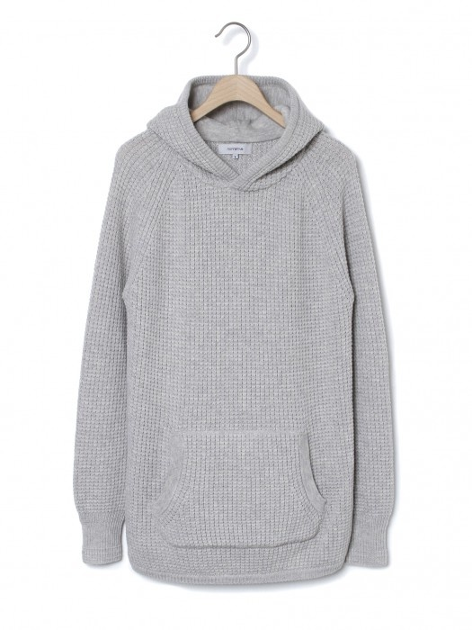 NONNATIVE DWELLER HOODED SWEATER – CASHMERE MIX WAFFLE