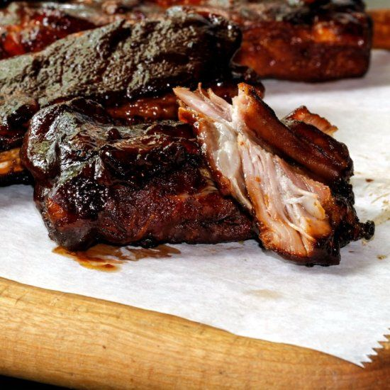 The ULTIMATE St. Louis Ribs that will fall off the bone and into your mouth with Whiskey BBQ Sauce! Done in an hour!