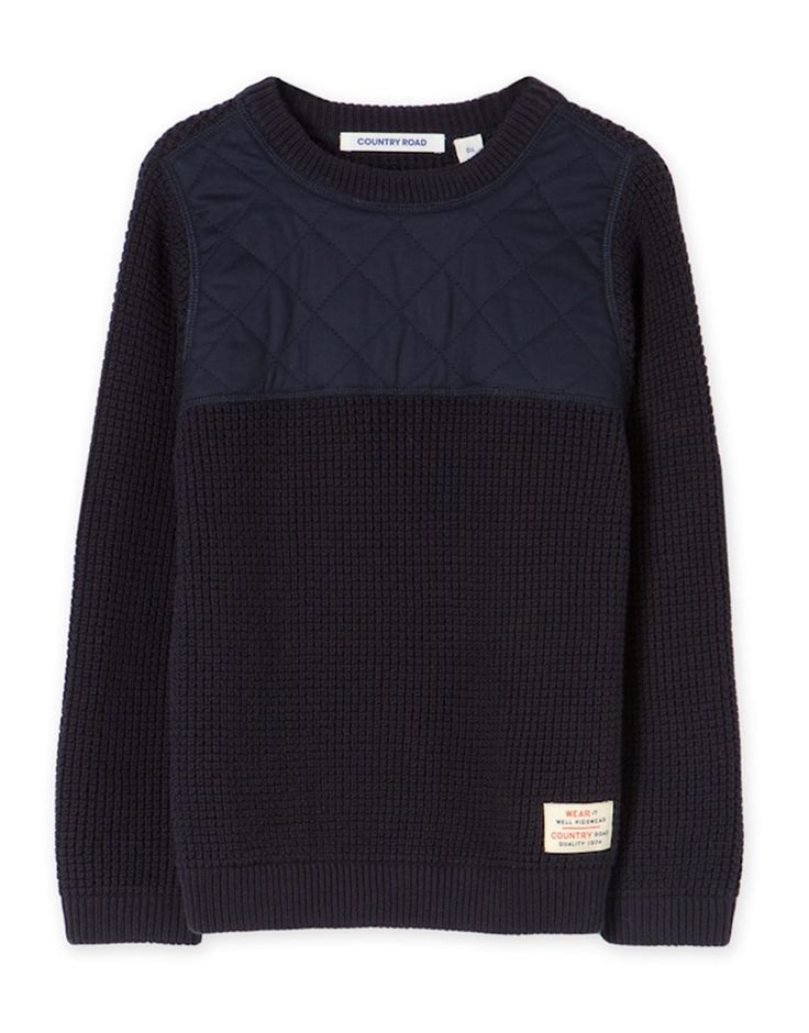 Diamond Panel Knit