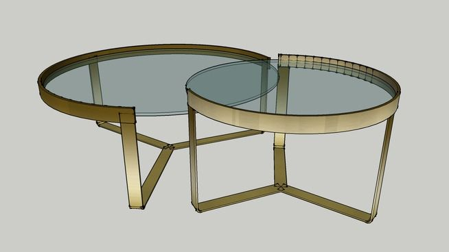 Large preview of 3D Model of Aula Coffee Table from MADE.com