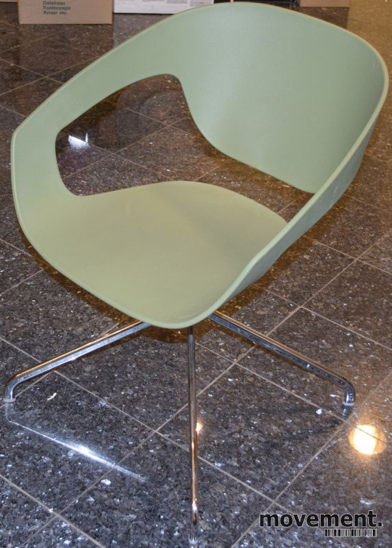 Morsomme loungestoler / besøksstoler i oliven, VAD-Chair by Casamania/Frezza, Fotkryss, pent brukt