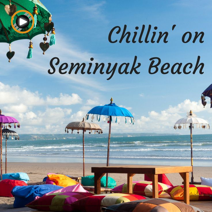 Chilin' on Seminyak Beach is a nice way to enjoy a relaxing Sunday #weekend #sunday #beach #chilling