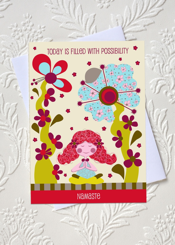 Today is filled with possibility  Affirmation greeting card  idocaredesigns.com  Quote by: Elana Epstein  Design by: Jazmin Sasky