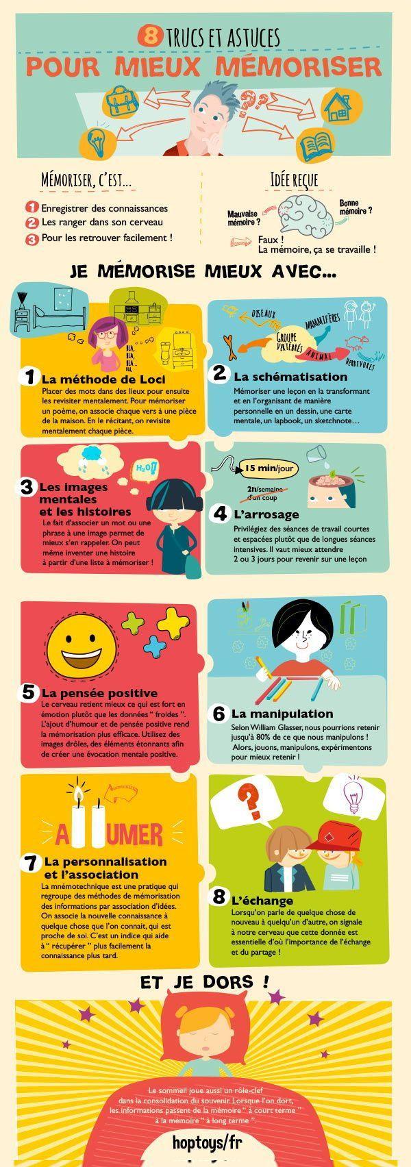 Infographie : 8 trucs et astuces pour mieux mémoriser