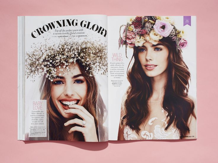 Styling: Alexis Teasdale Photography: Duncan Killick Cosmopolitan Bride, issue 39 www.cosmopolitanb... #flowercrowns #bride #wedding #love #cosmobride