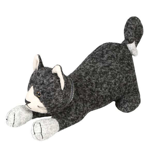 Pouncing Cat Doorstop At What On Earth Cw4656 Animali Stoffe