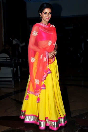 Love the fun yellow and pink colors! Navratri choli.