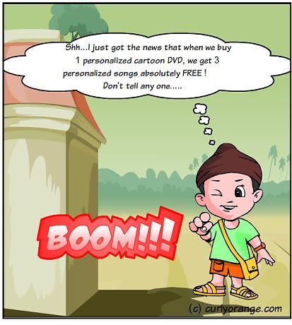 When you 1 personalized DVD you get 3 personalized songs absolutely free. Isn't this the best personalized gift for kids this Rakhi 2015.