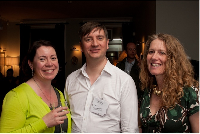 Brigid Coady, Jon Reed and Danuta Kean at the Publishing Talk London Book Fair Tweetup 2011 - an event that I have organized each year since 2010.