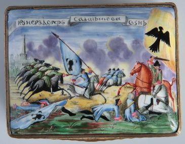 Подарочная табакерка.1759,  Англия Бирмингем