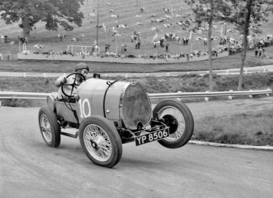 1920 Bugatti Type 13 Brescia - looks to be at Prescott Hill Climb and not in the 20s look at the guardrails