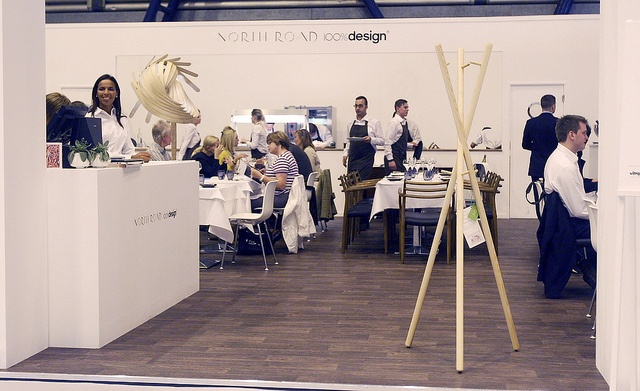 LUGI Coatstand 01 at the Michelin star North Road Restaurant durning 100% Design London 2012