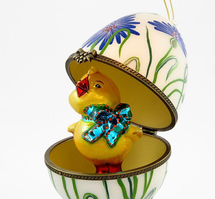 Jajko jubilerskie - Kurczaczek w chabrach