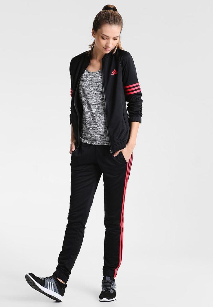 adidas Performance COSY - Chándal - black/core pink - Zalando.es