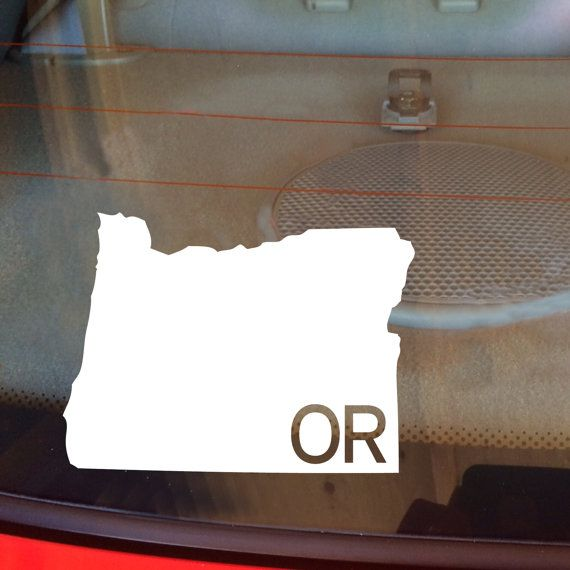Oregon car decal state decal oregon decal laptop decal laptop sticker car sticker car decal vinyl decal or window decal any state