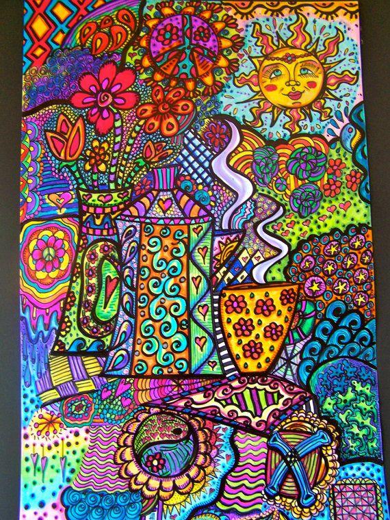 Hippie Art Hippie Art Poster Original Spring by DawnCollinsArt, $50.00