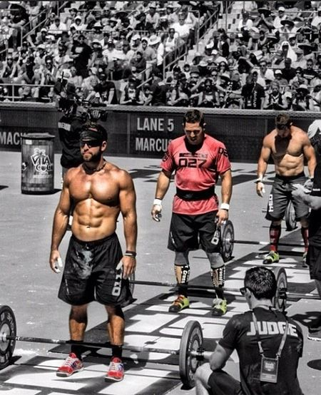 Rich Froning at the Crossfit games. 3peat champion. This dude is in unbelievable shape. #roguefitness #crossfit